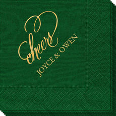 Refined Cheers Moire Napkins