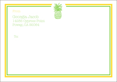 Pineapple Large Shipping Labels