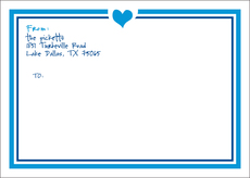Heart Large Shipping Labels