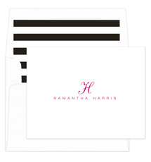 Script Initial Folded Note Cards