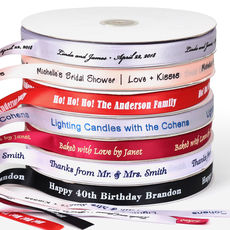 Personalized 5/8 inch Satin Ribbon