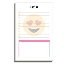 Emoji Heart Eyes Lined Notepads