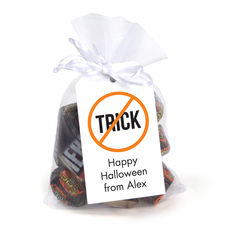 Trick or Treat Hanging Gift Tags with Organza Bags