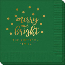 Confetti Dots Merry and Bright Napkins