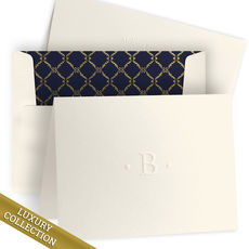 Luxury Embossed Initial Folded Note Card Collection