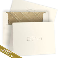 Luxury Embossed Monogram Note Card Collection