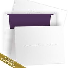 Luxury Embossed Samantha Folded Note Card Collection