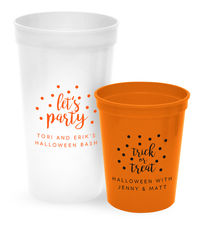 Personalized Confetti Dot Stadium Cups