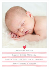 Painterly Stripes Baby Photo Announcements