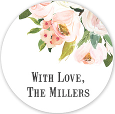 Pink Corner Roses Gift Stickers