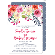White Watercolor Roses Invitations