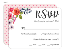 Watercolor Roses Response Cards