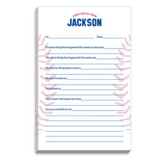 Baseball Fill In Camp Notepads