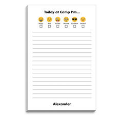 Emoji Today at Camp Notepads