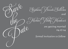 Special Grey Names Save The Date Cards