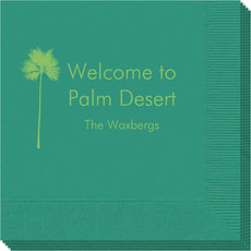 Palm Tree Silhouette Napkins