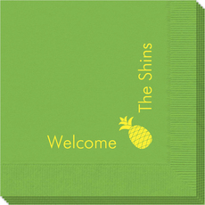 Corner Text with Pineapple Design Napkins