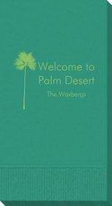Palm Tree Silhouette Guest Towels