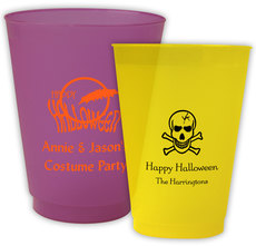 Personalized Colored Frosted Cups for Halloween