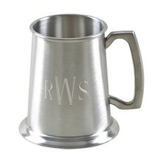Personalized Pewter Tankard with Matte Finish