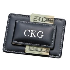Black Leather Money and Card Holder