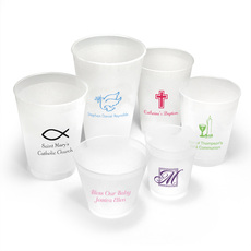 Personalized Frosted Cups for Christian Celebrations