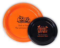 Personalized Plastic Plates for Halloween