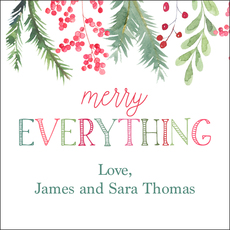 Merry Everything Holiday Gift Stickers