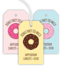 Donut Party Too Much Hanging Gift Tags