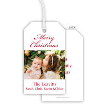 Your Greeting Photo Hanging Gift Tags
