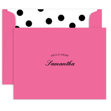Hello Foldover Note Cards