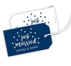 Just Married Confetti Hanging Gift Tags