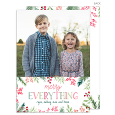 Merry Everything Vertical Holiday Photo Cards