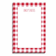 Red Gingham Border Notepads