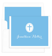 Blue Cross Folded Note Cards