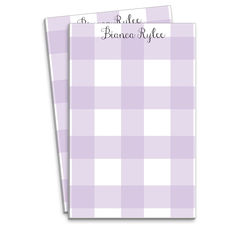 Lavender Buffalo Check Notepads