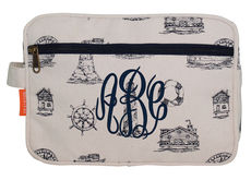 Personalized Nautical Navy Canvas Travel Bag
