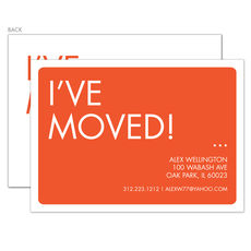 Orange I've Moved Moving Announcements