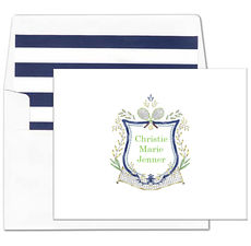 Tennis Crest Folded Note Cards