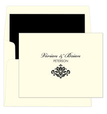 Simply Ornate Folded Note Cards