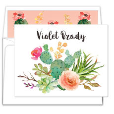 Desert Blooms Folded Note Cards