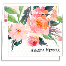 Watercolor Bouquet Folded Note Cards