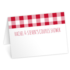 Red Gingham Place Cards