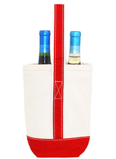 Personalized Wine Tote Red Trim