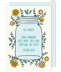Country Mason Jar Moving Announcements