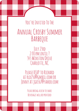 Red Gingham Invitations