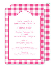Pink Gingham Invitations