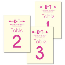 Cupid's Arrow Table Number Cards