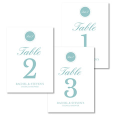 Lagoon Circle Initials Table Number Cards