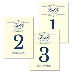 Scroll Table Number Cards
